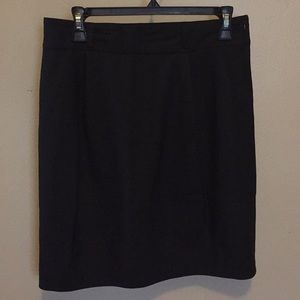 Theory Black Mini Skirt Side Pockets Sz 10